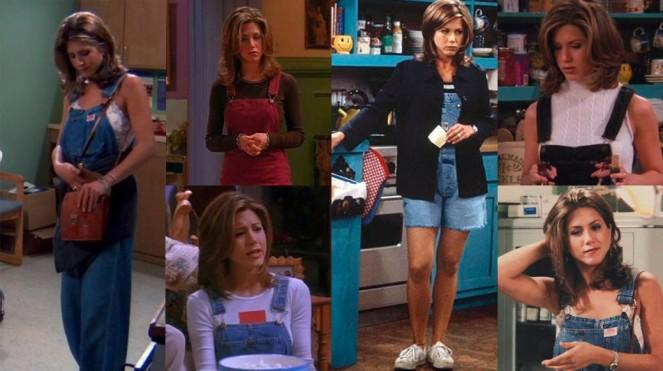 Rachel green in overalls