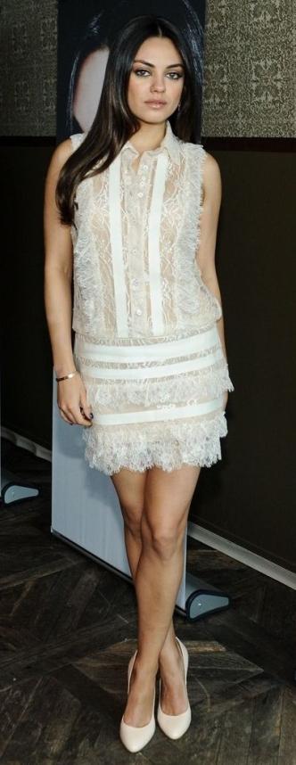 Mila Kunis petite celebrity Nude heels